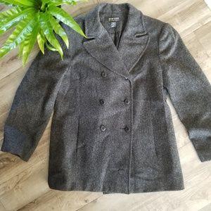 New York & Co. Size 10 wool peacoat gray